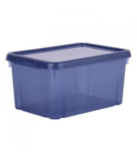 EDA PLASTIQUE Boîte de rangement Funny Box 4 L - Bleu profond acidulé - 25,5 x 18 x 12,7 cm