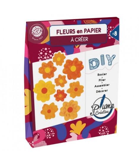 PLUME CREATIVE Création fleur en papier - Orange et jaune