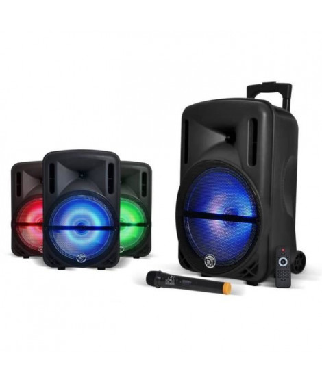 MYDEEJAY DJOON 12 Enceinte Autonome LED Bluetooth USB 500W