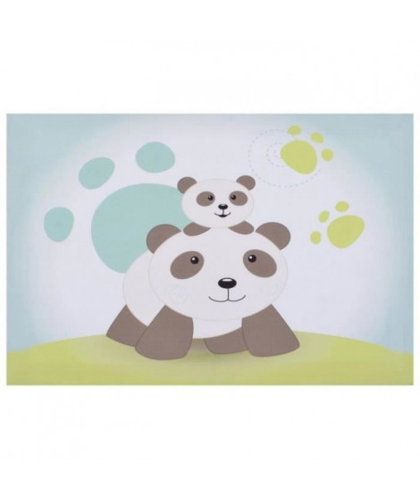 DOMIVA Toile Lumineuse Scintillante Pandi Panda - 30x40 cm