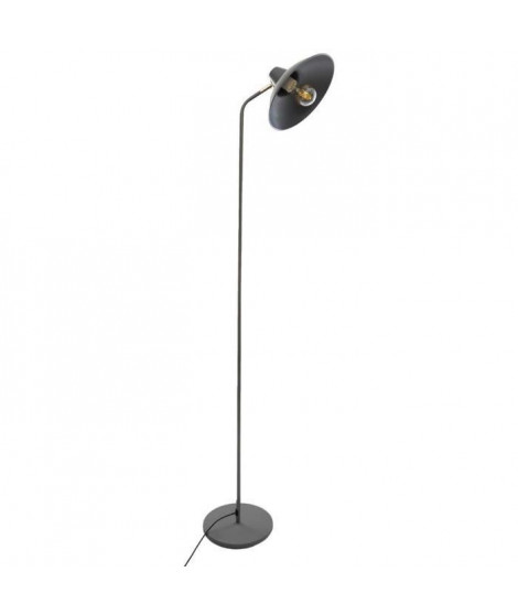 Lampadaire en métal - E27 - 25 W - H. 155 cm - Gris