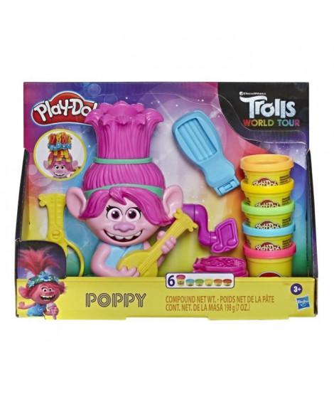 Play-Doh – Pate A Modeler – Poppy, cheveux arc-en-ciel - La Reine des Trolls