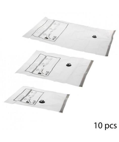 Lot de 10 Sacs compresseurs Air Flat - Transparent