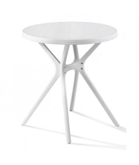 VICTOR Table ronde - Ø 70 cm - Pieds tulipe - Blanc