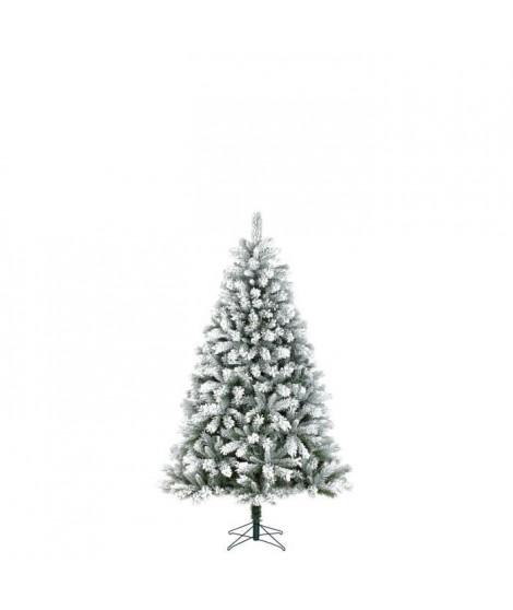 Sapin de Noël Chandler - PVC - H 120 x Ø 82 cm - 283 branches - Vert givré