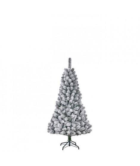Sapin de Noël Millington - PVC - H 120 x Ø 71 cm - 164 branches - Vert givré