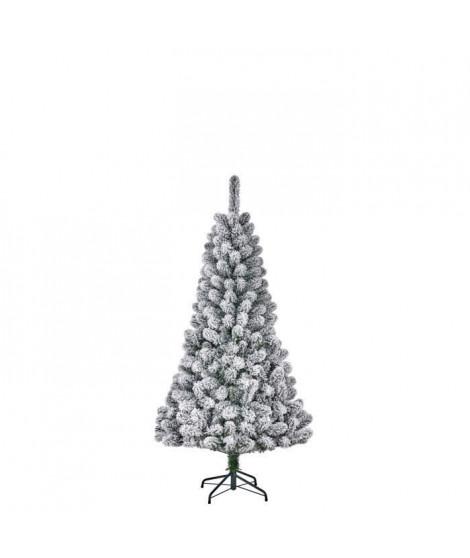 Sapin de Noël Millington - PVC - H 155 x Ø 86 cm - 266 branches - Vert givré