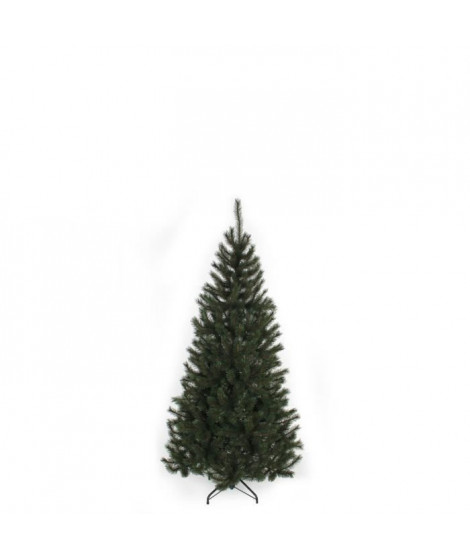 Sapin de Noël Kingston - PVC - H 120 x Ø 72 cm - 195 branches - Vert