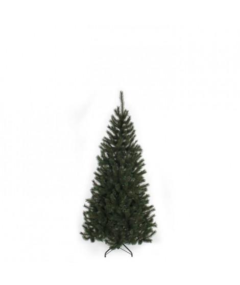 Sapin de Noël Kingston - PVC - H 155 x Ø 86 cm - 345 branches - Vert