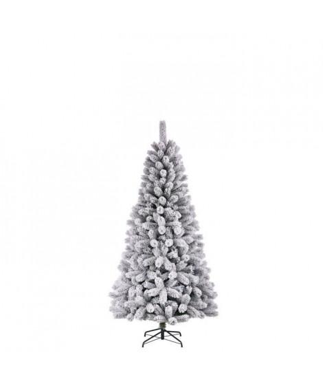 Sapin de Noël Medford - PVC - H 155 x Ø 81 cm - 296 branches - Vert givré