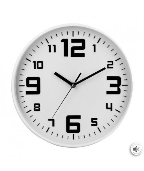 Pendule silencieuse - Ø 30 cm - Blanc