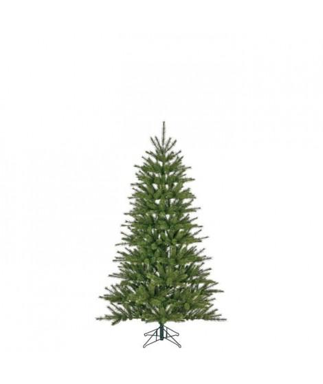 Sapin de Noël Caroline - PVC - H 155 x Ø 76 cm - 472 branches - Vert