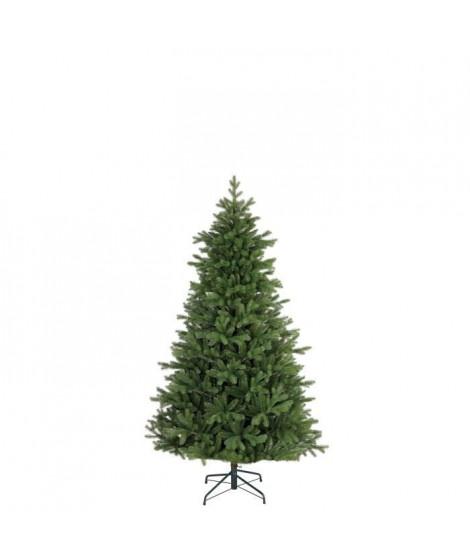 Sapin de Noël Tanoak - PVC - H 155 x Ø 114 cm - 1018 branches - Vert