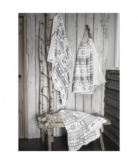 TODAY Plaid en polyester - 125 x 150 cm - Gris clair