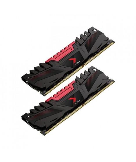 PNY Mémoire PC DDR4 2666, 2KIT, AXR - 16 Go (MD16GK2D4266616XR)
