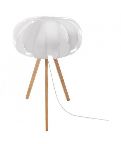 Lampe trépied - E14 - 40 W - H. 55 cm - Blanc