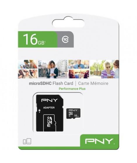 PNY Carte mémoire MicroSD 16Go Performance Plus C10