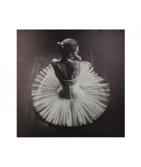 Toile imprimée Danseuse - 78 x 78 cm - Noir et blanc
