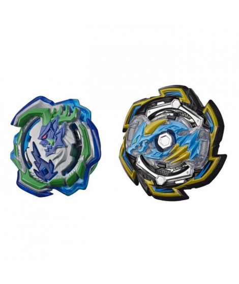 Beyblade Burst Rise - Pack Duel Hypersphere Toupies Rock Dragon D5 et Ogre O4