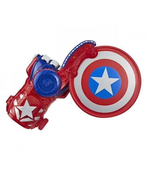 Marvel Avengers – Gant Captain America lanceur disque-bouclier Nerf Power Moves - Accessoire de déguisement