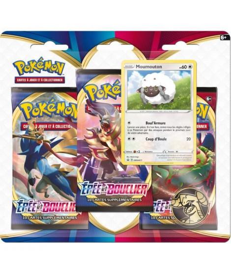 POKEMON Epée & Bouclier Pokémon Day - Pack 3 boosters MOUMOUTON - 30 cartes - 3PACK01POKDAY
