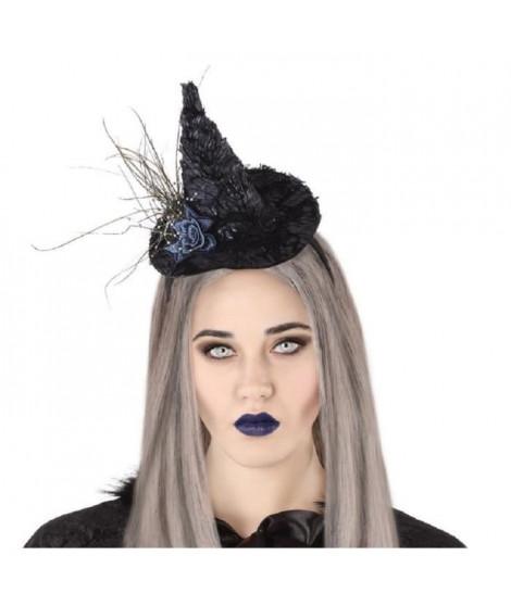 ATOSA Serre-tete Sorciere Halloween - Noir et Bleu