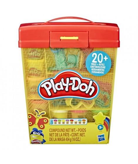 Play-Doh – Super Boite a accessoires et 5 pots de pate a modeler de 56g chacun