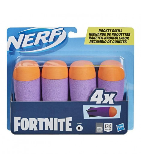 Nerf - Pack de 4 Roquettes Nerf Fortnite Officielles