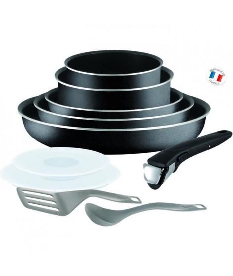 TEFAL Batterie de cuisine Ingenio Essential - L2008902 - 10 pieces - 16/18/20/22/26 cm - Tous feux sauf induction - Noir