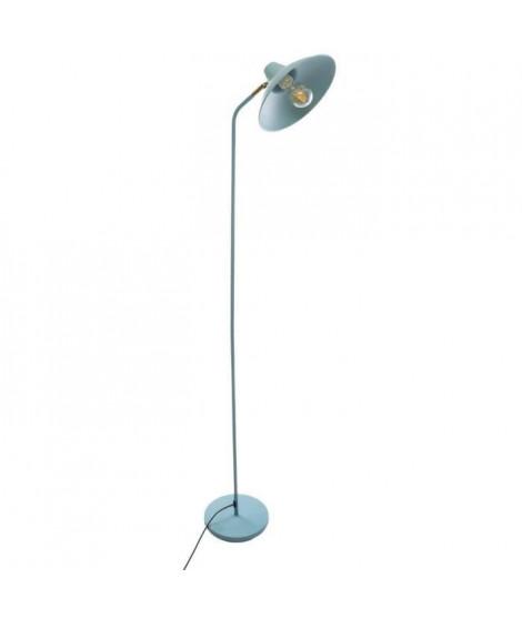 Lampadaire droit en métal - E27 - 25 W - H. 155 cm - Vert
