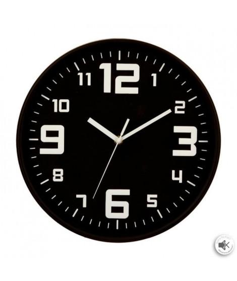 Pendule silencieuse - Ø 30 cm - Noir