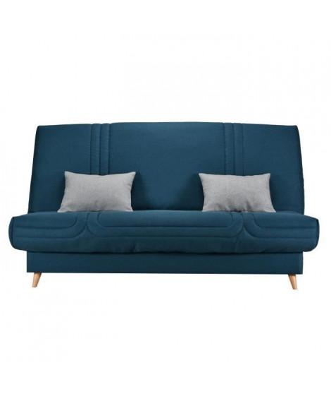 BULTEX Clic clac MONA 3 places - Tissu Bleu - L 192 x P 95 x H 101