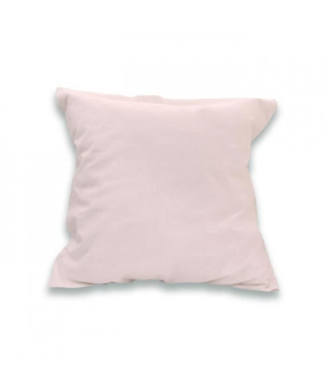 SOLEIL d'OCRE Lot de 2 Taies d'oreiller 100% Coton 65x65 cm Rose