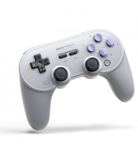 Manette Gamepad Bluetooth grise 8Bitdo SN30 Pro+ SN Edition pour Switch