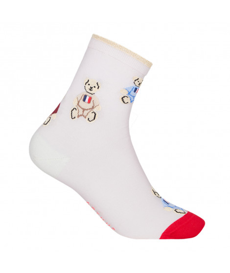 Chaussettes Teddy Chaussette Teddy Poudre Rose / Rouge