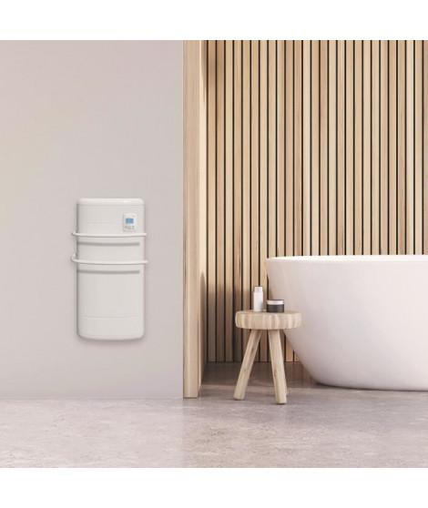 CHAUFELEC RHÉA PR BJK1864FDAJ - Radiateur seche-serviettes 1300W (500W+800W soufflerie) - Coloris Blanc - Thermostat digital …