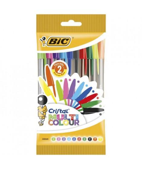BIC - Stylo-bille Cristal Multicolors x10