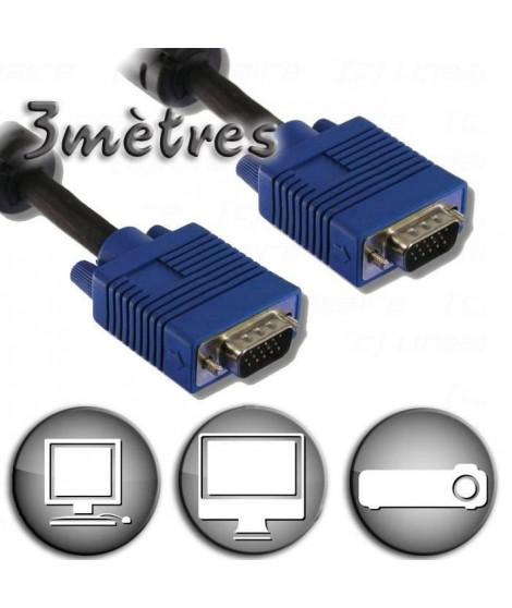 Câble VGA HD15 Mâle / Mâle - 3m