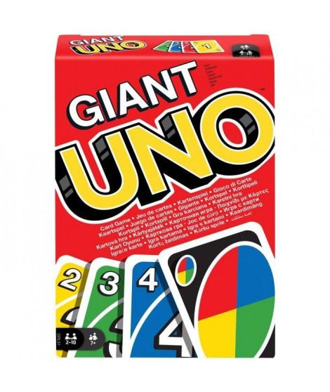 UNO GÉANT Jeu de cartes géantes - 2 a 10 joueurs - 7 ans et +