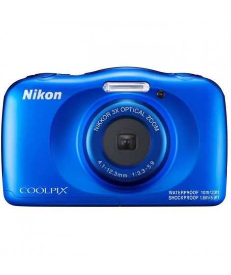 NIKON COOLPIX W150VQA111EA - 13Mp CMOS -3x, 2,7 - QVGA, 1080p - Water Proof - Shock Proof - WIFI