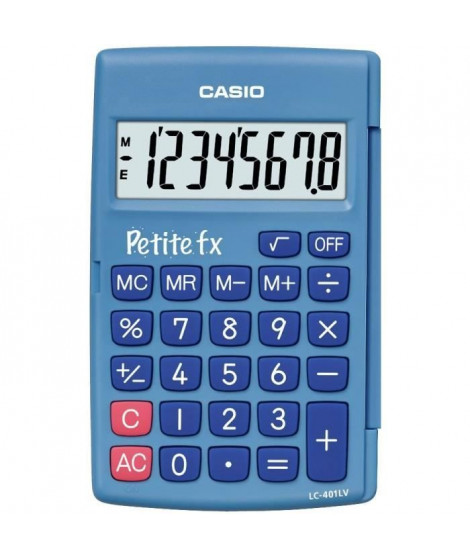 CASIO Petite FX bleue. Calculatrice adapté au primaire LC-401LV-BU.