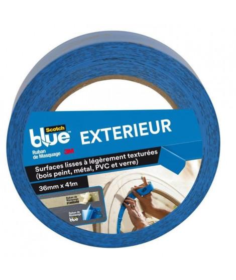 3M Ruban de Masquage Spécial Extérieur ScotchBlue - Bleu - 41mx36mm