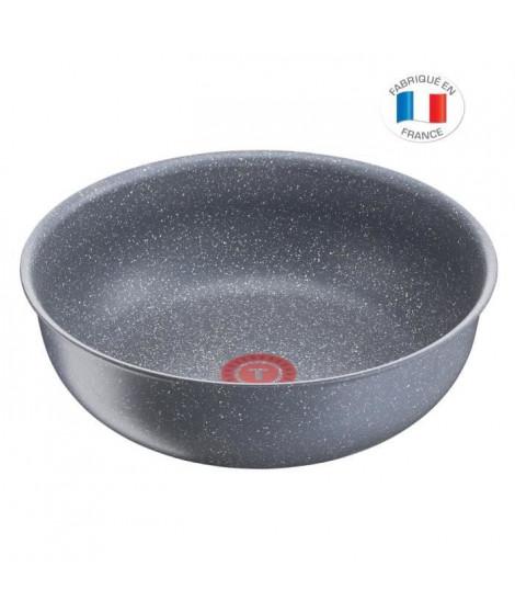 TEFAL L6807702 Ingenio Poele Wok 26cm - Tous feux dont induction - Polyvalente - Antiadhésif - Fabriqué en France - Effet Pierre
