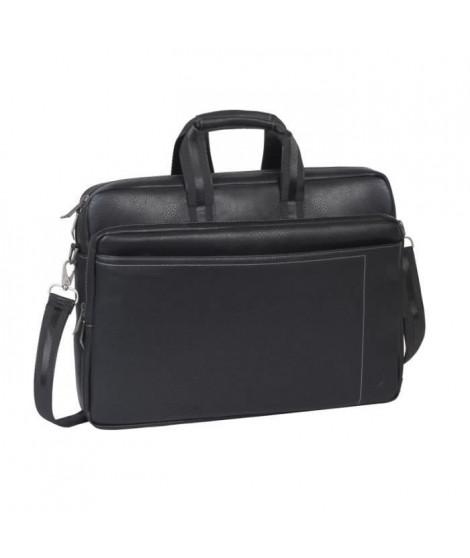 "RIVACASE 16"" Sacoche Notebook/ Laptop / Ordinateur Portable Sac a Main/ Sac a Bandouliere en simili cuir Série Orly– Noir"