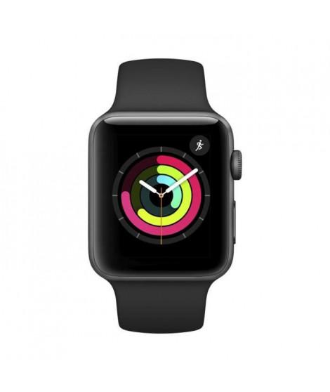 AppleWatch Series3 GPS, 42mm Boîtier en aluminium gris sidéral avec bracelet sport noir