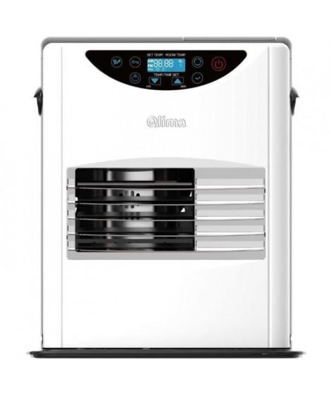 Poele a pétrole électronique Qlima SRE 3132C 3,2 KW pour volume 130m3/52m2, régulation température, blanc
