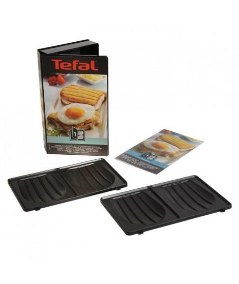 TEFAL Accessoires XA800112 Lot de 2 plaques Croque Monsieur Snack Collection