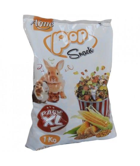 AIME Friandise mélange de pop corn et corn flakes - Pour lapins et rongeurs  - 1 kg (x1)