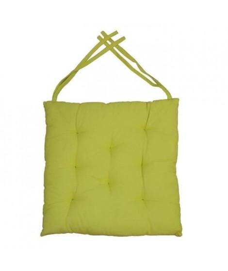 Galette de chaise 8 points 40x40x4 cm VERT ANIS