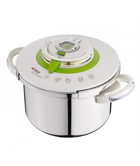 SEB Autocuiseur Nutricook - P4221403 -  8L - Tous feux dont induction - Inox - Blanc